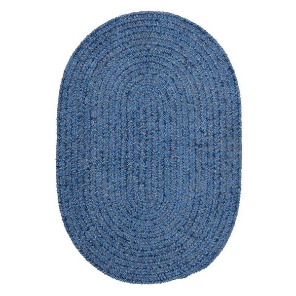 Colonial Mills Spring Meadow 2-ft x 6-ft Oval Indoor/Outdoor Petal Blue Area Rug Runner