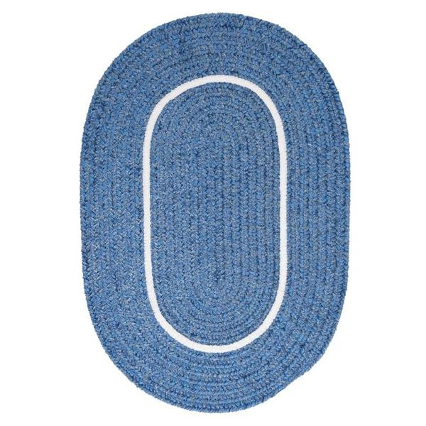 Colonial Mills Silhouette 5-ft x 8-ft Oval Indoor Blue Ice Area Rug