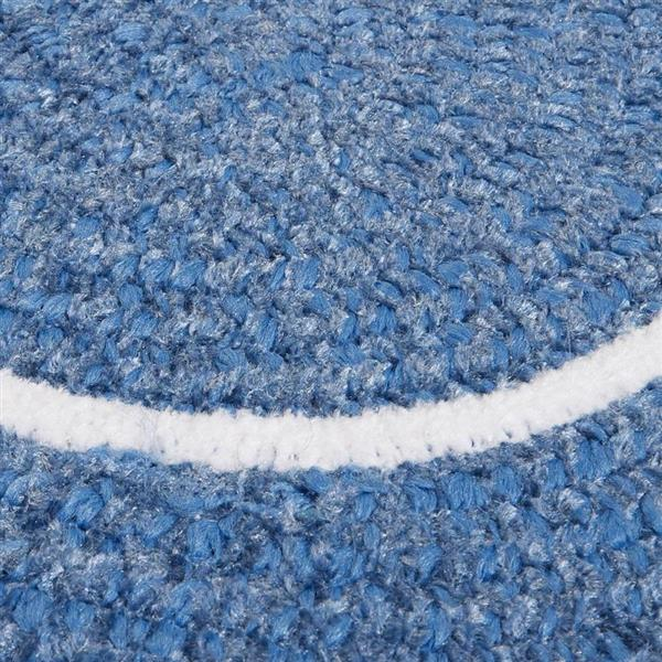 Colonial Mills Silhouette 8-ft x 11-ft Oval Runner Indoor Blue Ice Area Rug