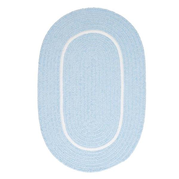 Colonial Mills Silhouette 2-ft x 10-ft Oval Runner Indoor Sky Blue Area Rug