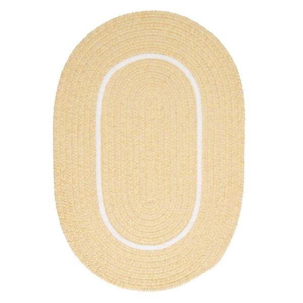 Colonial Mills Silhouette 8-ft x 8-ft Round Runner Indoor Pale Banana Area Rug