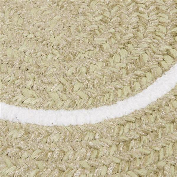 Colonial Mills Silhouette 2-ft x 12-ft Oval Runner Indoor Celery Area Rug