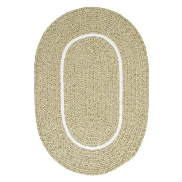 Colonial Mills Silhouette 8-ft x 11-ft Oval Runner Indoor Celery Area Rug