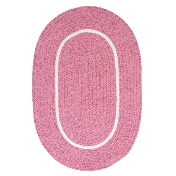 Colonial Mills Silhouette 8-ft x 8-ft Round Runner Indoor Pink Area Rug