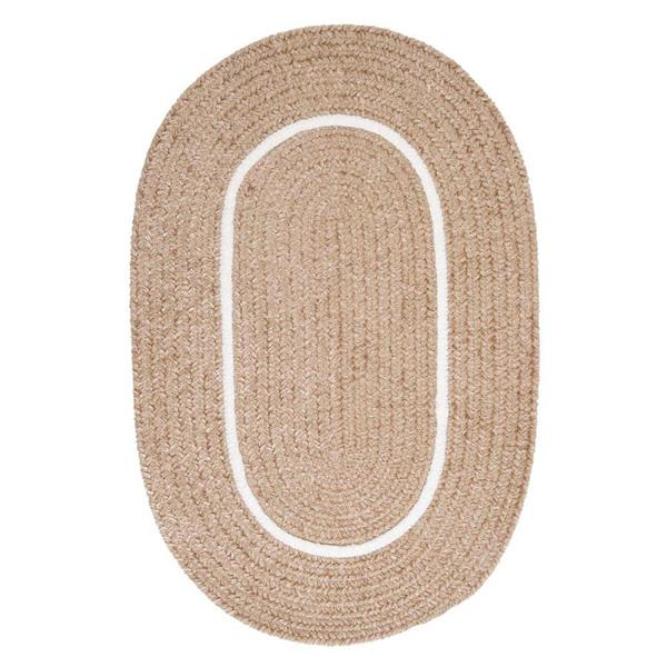 Colonial Mills Silhouette 4-ft x 4-ft Round Runner Indoor Sand Area Rug