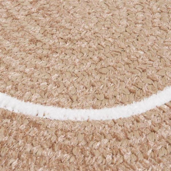 Colonial Mills Silhouette 7-ft x 9-ft Oval Runner Indoor Sand Area Rug