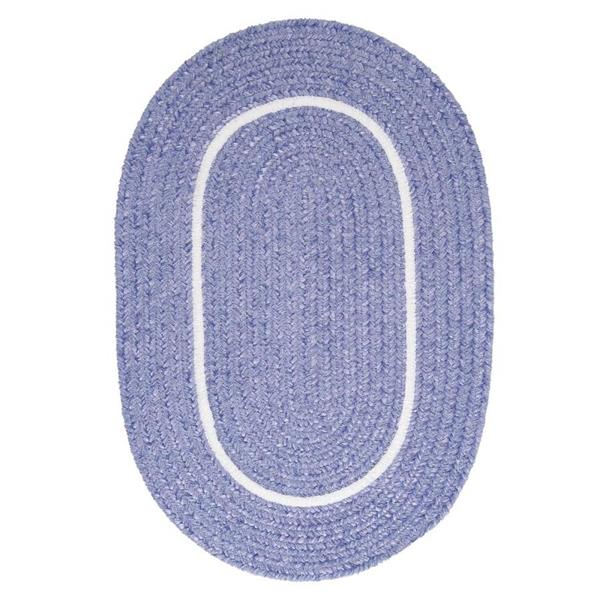 Colonial Mills Silhouette 4-ft x 4-ft Round Runner Indoor Amethyst Area Rug