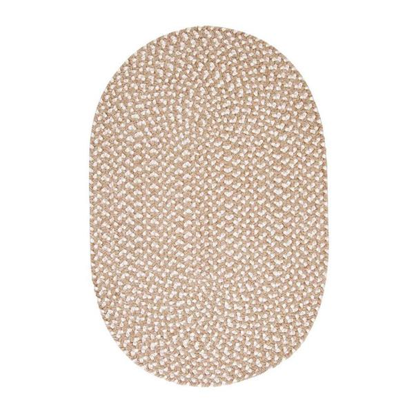 Colonial Mills Confetti 7-ft x 9-ft Natural Oval Area Rug