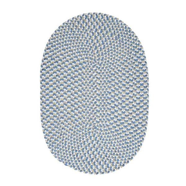 Colonial Mills Confetti 8-ft Blue Round Area Rug