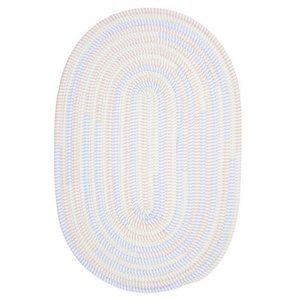 Colonial Mills Ticking Stripe Oval 8-ft Round Handcrafted Starlight Indoor Area Rug
