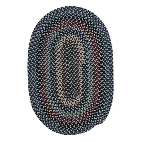 Colonial Mills Boston Common 2-ft x 12-ft Winter Blues Oval Runner