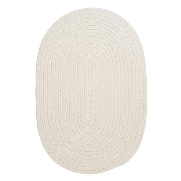 Colonial Mills Boca Raton 7-ft x 9-ft White Oval Area Rug