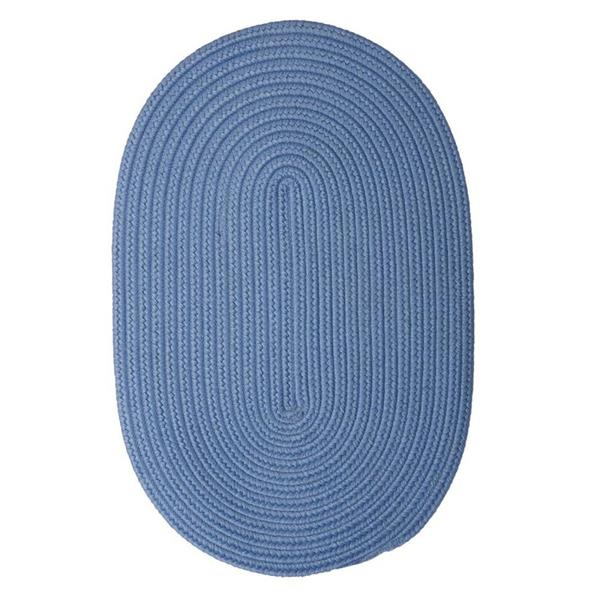 Colonial Mills Boca Raton 8-ft x 11-ft Blue Ice Area Rug