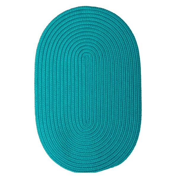 Colonial Mills Boca Raton 5-ft x 8-ft Turquoise Oval Area Rug