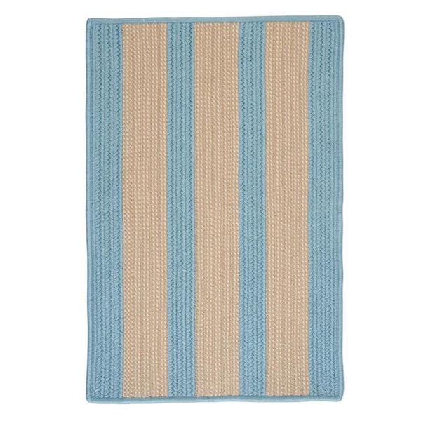 Colonial Mills Boat House 7-ft x 9-ft Light Blue Area Rug