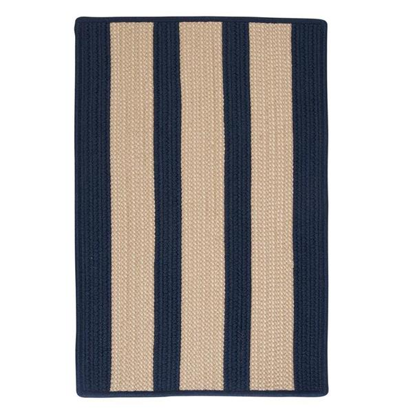 Colonial Mills Boat House 2-ft x 12-ft Navy Blue Area Rug