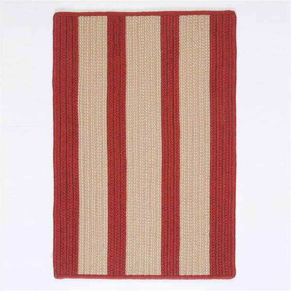 Colonial Mills Boat House 8-ft x 11-ft Rust Red Area Rug