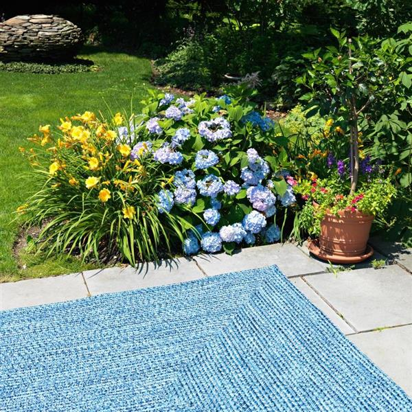 Colonial Mills Catalina 2-ft x 12-ft Blue Wave Area Rug Runner