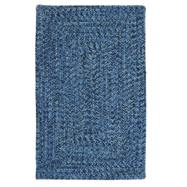 Colonial Mills Catalina 4-ft Blue Wave Square Area Rug