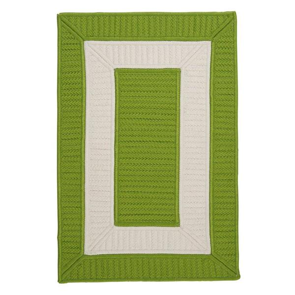 Colonial Mills Rope Walk 4-ft x 6-ft Bright Green Area Rug