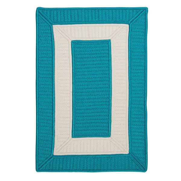 Colonial Mills Rope Walk 7-ft x 9-ft Turquoise Area Rug