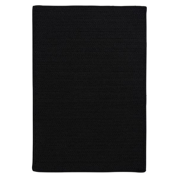 Colonial Mills Simply Home 4-ft x 6-ft Black Solid Area Rug