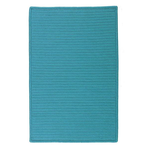 Colonial Mills Simply Home Solid 2-ft x 8-ft Turquoise Area Rug