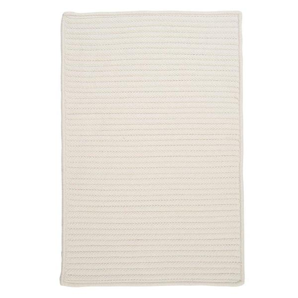 Colonial Mills Simply Home Solid 4-ft x 4-ft White Area Rug
