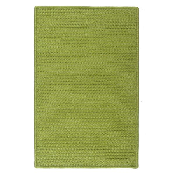 Colonial Mills Simply Home Solid 4-ft Square Bright Green Area Rug