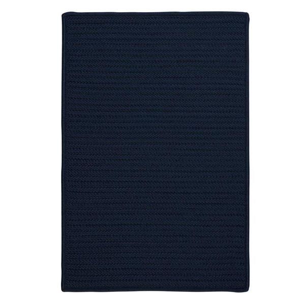 Colonial Mills Simply Home Solid 2-ft x 8-ft Navy Area Rug Runner