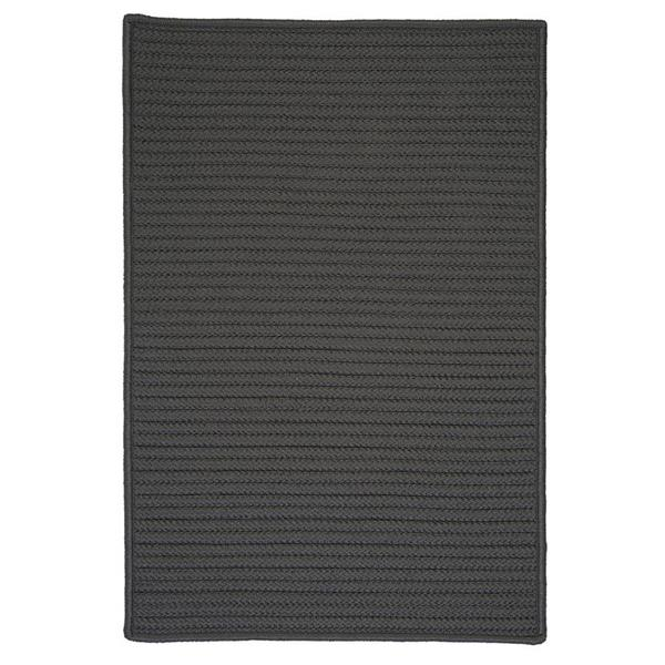 Colonial Mills Simply Home Solid 2-ft x 10-ft Gray Area Rug