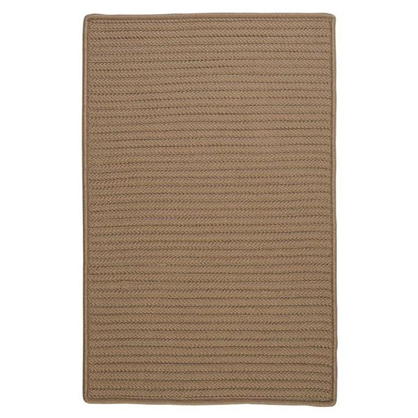 Colonial Mills Simply Home Solid 4-ft Square Café Tostado Area Rug