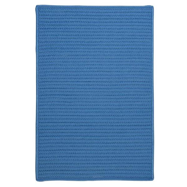 Colonial Mills Simply Home Solid 4-ft Blue Ice Square Area Rug