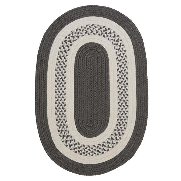 Colonial Mills Crescent 7-ft x 9-ft Grey Area Rug