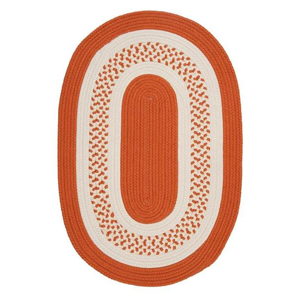 Colonial Mills Crescent 8-ft x 11-ft Orange Oval Area Rug