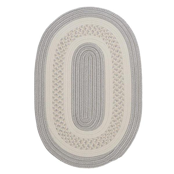 Colonial Mills Crescent 7-ft x 9-ft Silver Oval Area Rug