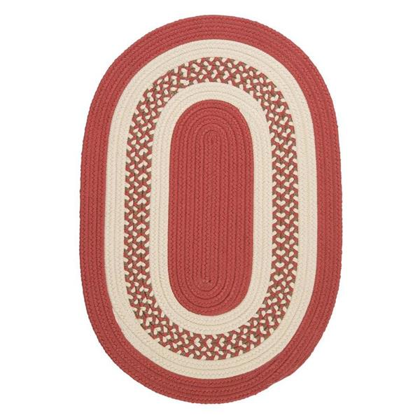 Colonial Mills Crescent 7-ft x 9-ft Terracotta Oval Area Rug