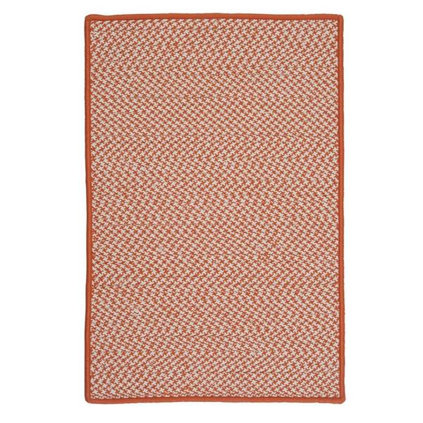 Colonial Mills Outdoor Houndstooth Tweed 4-ft Orange Square Area Rug