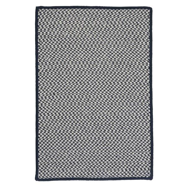 Colonial Mills Outdoor Houndstooth Tweed 8-ft Navy Square Area Rug
