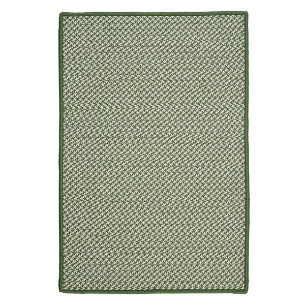 Colonial Mills Outdoor Houndstooth Tweed 2-ft x 12-ft Leaf Green Area Rug