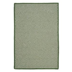 Colonial Mills Outdoor Houndstooth Tweed 8-ft x 11-ft Leaf Green Area Rug