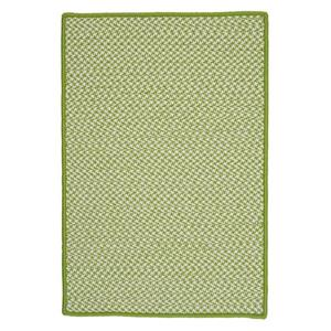 Colonial Mills Outdoor Houndstooth Tweed 4-ft x 6-ft Lime Area Rug