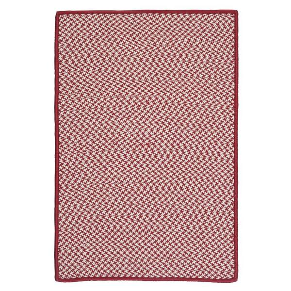 Colonial Mills Outdoor Houndstooth Tweed 8-ft Sangria Square Area Rug