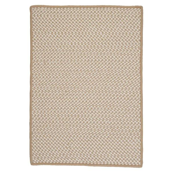 Colonial Mills Outdoor Houndstooth Tweed 4-ft x 6-ft Cuban Sand Area Rug
