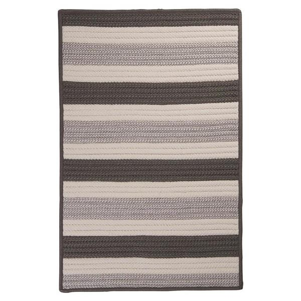 Colonial Mills Stripe It 2-ft x 8-ft Silver Area Rug Runner