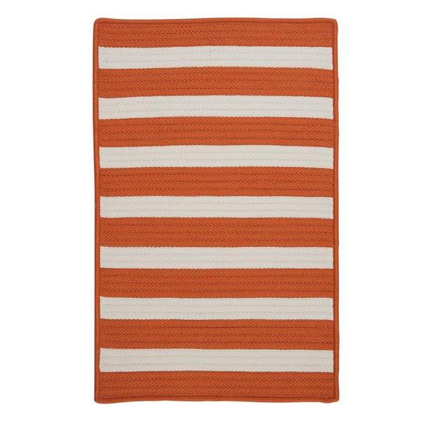 Colonial Mills Stripe It 2-ft x 8-ft Tangerine Area Rug Runner