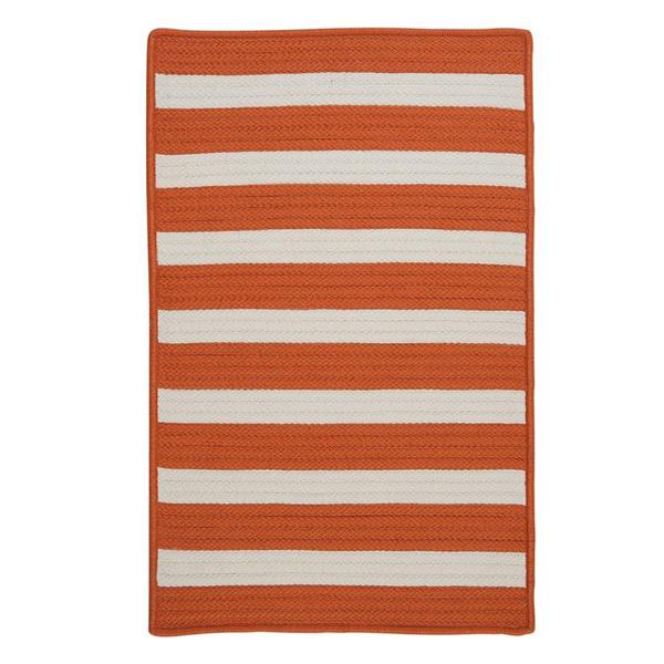 Colonial Mills Stripe It 7-ft x 9-ft Tangerine Area Rug