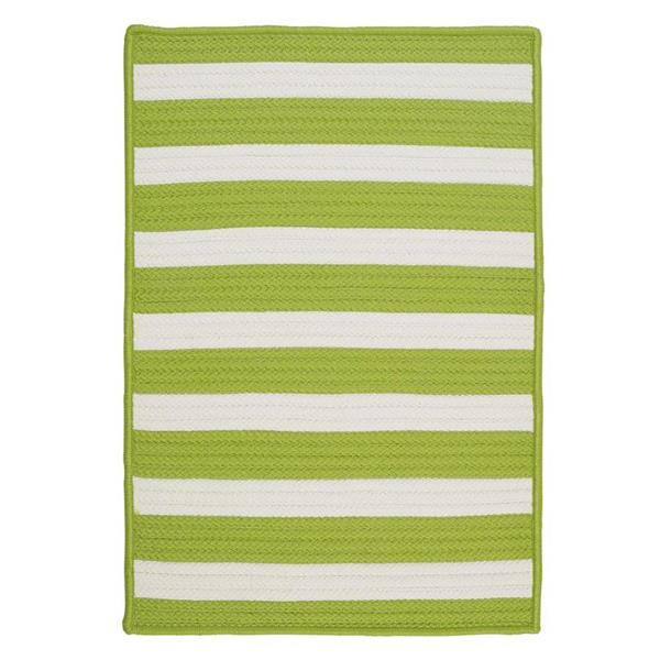 Colonial Mills Stripe It 5-ft x 8-ft Bright Lime Area Rug
