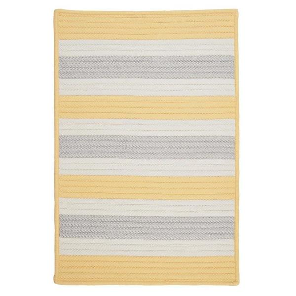 Colonial Mills Stripe It 2-ft x 6-ft Yellow Shimmer Area Rug Runner