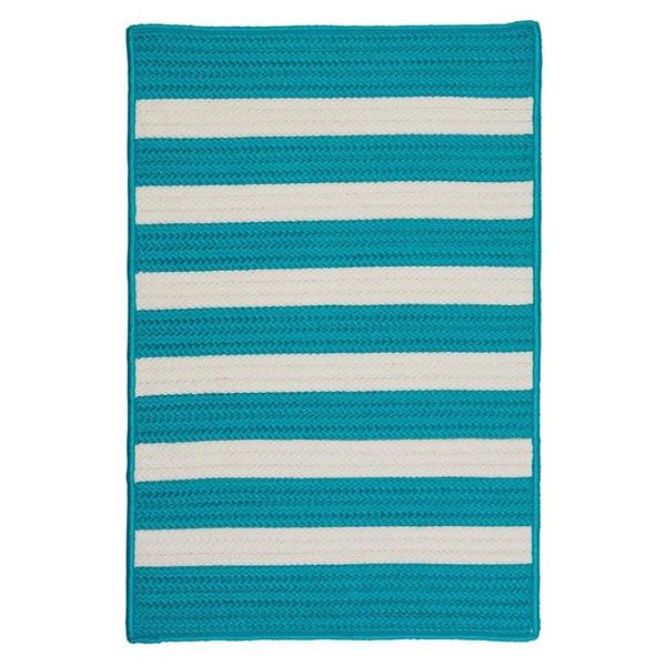 Colonial Mills Stripe It 2-ft x 8-ft Turquoise Area Rug Runner